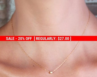 SALE 20% OFF Gold necklace, tiny gold necklace, wedding jewelry, bridesmaid jewelry, petite necklace , wedding necklace - 10031
