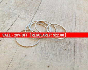 SALE 20% OFF 5 Gold rings, gold ring, thin rings, stacking rings, stacking gold rings, thin ring, tiny ring, gold stacking rings, simple