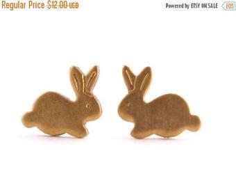 25% OFF SALE Tiny Bunny Earring Studs, Small Rabbit Earrings, Hypoallergenic Earrings< Easter Gift, Basket Stuffer