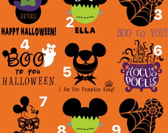Group Price* Family Disney Halloween Shirts, Mickeys Not So Scary Halloween Party
