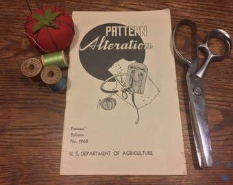 1945 Pattern Alteration Booklet Farmers' Bulletin No. 1968