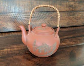 Japanese Terra Cotta Teapot with Infuser
