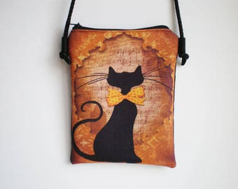 Shoulder bag, crossbody bag, cat, printed bag, cat bag, little bag