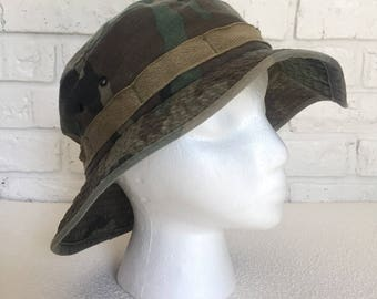 Vintage Camouflage Army Hat
