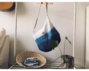 The Hanoi - Large Gradient Shibori Bucket Tote