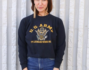 Vintage U.S.A Military Army Crewneck Sweatshirt Small