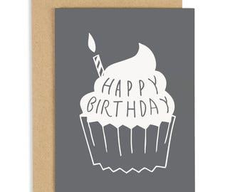 Cupcake Birthday Card - funny birthday card - happy birthday card - Fun Birthday Card - CC223