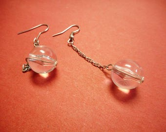 Clear Lucite Ball Earrings
