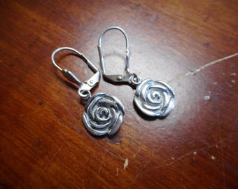 Sterling Silver 925 Flower Earrings