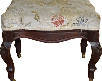18238 Victorian Carved Ottoman Footstool