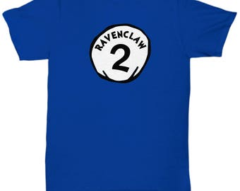 Dr. Seuss Halloween Ravenclaw 2 Funny Gift Shirt Harry Potter Costume Thing One Two Silly