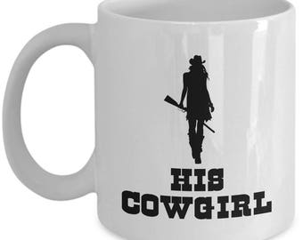 His Cowgirl Mug Gift for Wife Girlfriend Couples His Hers Horse Riding Rider Coffee Cup