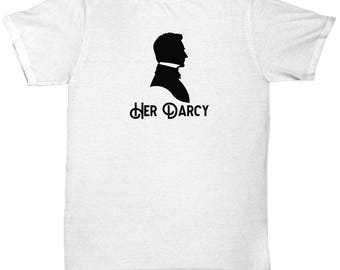 Her Darcy Shirt Gift for Husband Boyfriend Couples Pride and Prejudice Jane Austen Lizzy His Hers Shirts