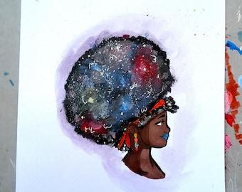 Afro of Stardust (Original Art)