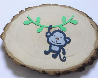 Scrapbook Embellishments, Monkey Die Cut - Set of 4