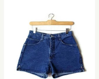ON SALE Vintage Blue Denim Shorts from 90's/W25*