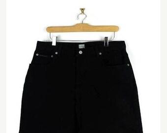 ON SALE Calvin Klein Black Denim Shorts from 90's/W32