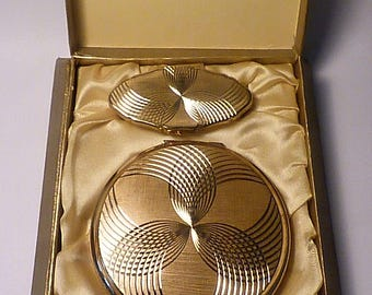 UNUSED Stratton compact and lipstick holder set vintage gifts for her