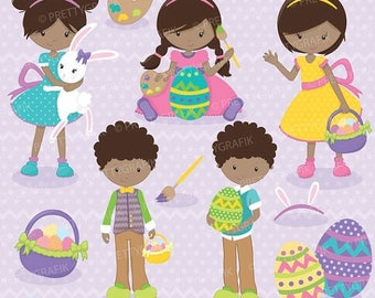 80% OFF SALE easter kids clipart commercial use, vector graphics, digital clip art, digital images - CL696