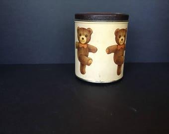 Musical Tin with teddy bears