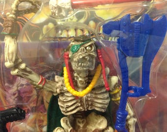 """1994 Skeleton Warriors DAGGER 5"""" Action Figure NEW Playmates COMPLETE in package fantasy 8507"""