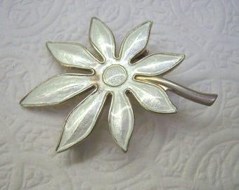 Vintage Sterling Silver AKSEL HOLMSEN Flower Brooch...Norway 925S...Weighs 7.60 Grams