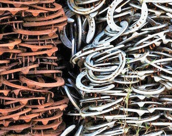 Vintage Used Horseshoes- lot of 2 - The Heritage Forge