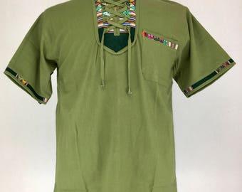 PERUVIAN MEN's TOP - Green