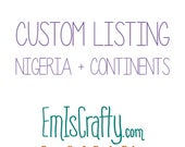 Custom Felt Wall: Nigeria and Continents