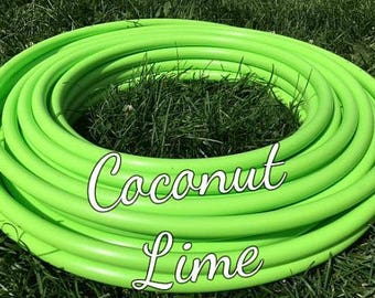 """Coconut Lime Roll of 3/4"""" or 5/8"""" Colored PolyPro hula hoop tubing - Make your own hoops!  50 ft or 100 ft"""