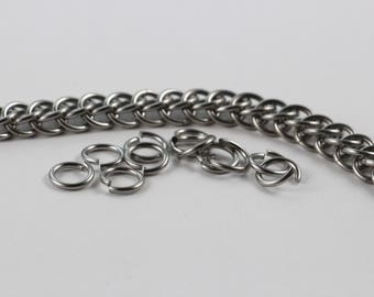 Persian Chainmaille Bracelet   Hand Crafted Chainmaille Jewelry   Handmade Bracelet   Stainless Steel Chainmaille