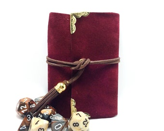 Red Suede Spell Book- Dungeons and Dragons