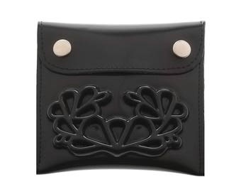 Black wallet / vegan coin wallet / medusa coin wallet / a wallet insert / small change / a big difference / small change purse
