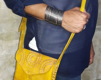 Leather Handbag Mustard