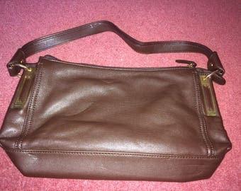 Smart brown leather handbag by Fiorelli