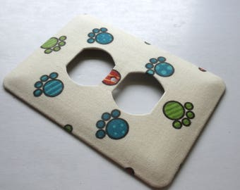 DOGGIE PAW Print Outlet Cover Switch Plate Switchplate