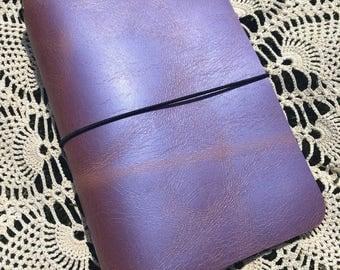 JournalJot (B6 Slim) - Unicorn (1) - Leather Traveler's Notebook/Fauxdori