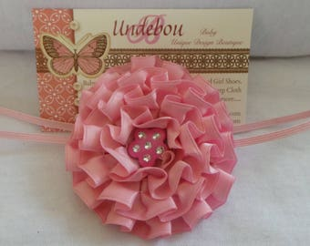 Pink Baby Headband - Dressy Pink Headband