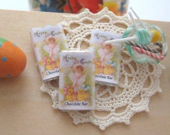 dollhouse chocolate bar x 1 easter vintage themed 12th scale miniature