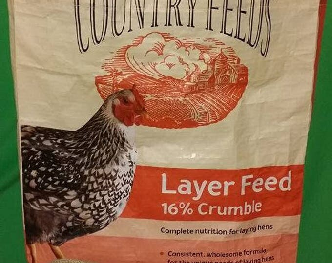 Recycled Feed Bag Tote, reusable tote bag, grocery tote, recycled shopping bags, reusable grocery bag,  tote bags Nutrena Laying  Crumbles