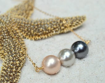 South Sea Shell Pearl Necklace- Mother of Pearl Necklace