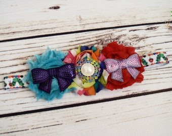 Designs by My Daughters - Hungry Caterpillar Headband - Rainbow Headband - Baby Girl Headband - Christmas Gift for Toddlers - Butterfly Bows