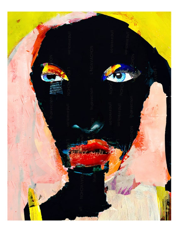 Wall, contemporary, art print, linda v
