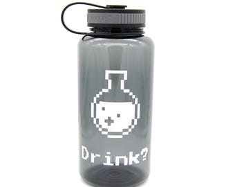Drink? potion wide mouth water bottle - video games/gaming, retro gamer/gaming video games addict gift