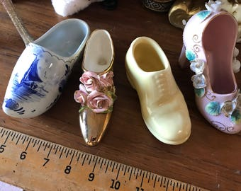 Vintage Ceramic Shoe Group