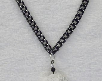 CLEARANCE White Buffalo Pendant 18-inch/20 cm Necklace by Woven Beads Browbands