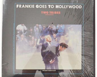 """Vintage 80s Frankie Goes to Hollywood Two Tribes 12"""" Single Record Vinyl"""