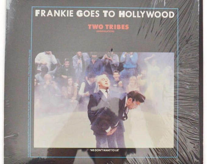 "Vintage 80s Frankie Goes to Hollywood Two Tribes 12"" Single Record Vinyl"