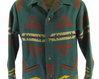 Vintage 90s Pendleton Southwestern Jacket Mens XL USA High Grade Western Wear [H82G_3-1]