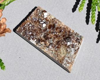 Grossular Garnet Druzy Cabochon Natural Sparkling garnet druze